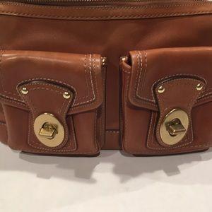 Vintage coach double satchel pocket tote